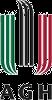 AGH logo - haft komputerowy